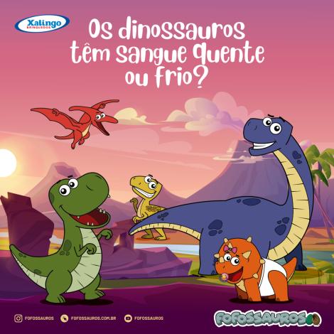 Os dinossauros têm sangue quente ou frio?