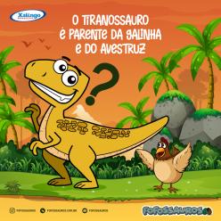 O Tiranossauro é parente da galinha e do avestruz?